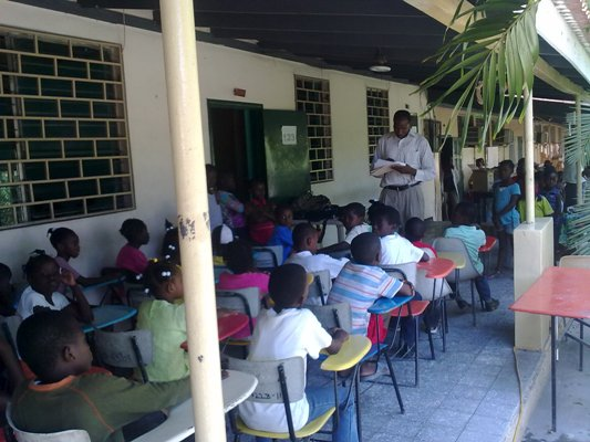 Getting children back in school is a priority for GHESKIO.