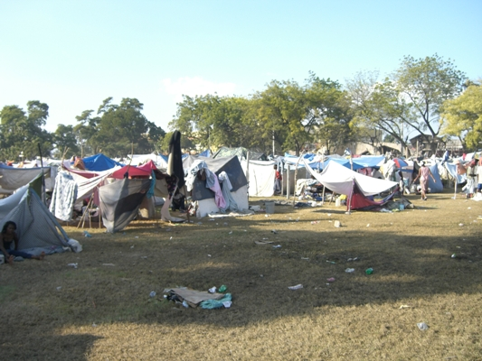 The refugee camp