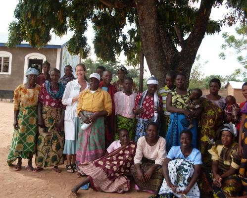 Dr. Jennifer Downs with women from a rural village near Mwanza, Tanzania