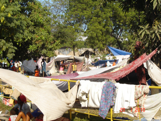 The refugee camp at GHESKIO