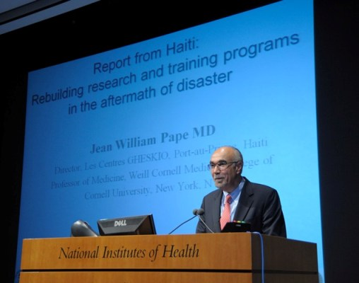 June 17, 2010 - Dr. Jean Pape speaks at the National Institutes of Health