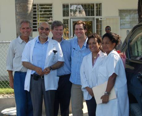 Jim Carrey, of the Better U Foundation, visits GHESKIO