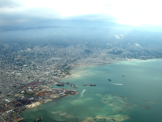 A view of Port-au-Prince and the bay.