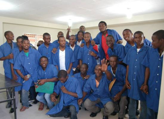 Students at GHESKIO's Vocational School will learn construction trades