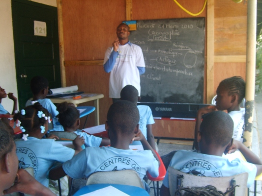 Class in session at the GHESKIO primary school