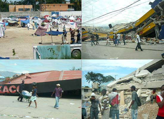 Scenes from Port-au-Prince in the days following the earthquake