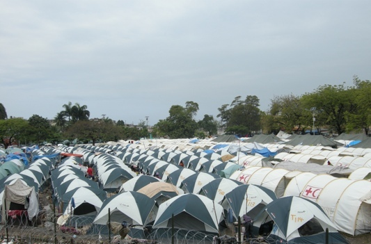 At its most dense, this tent city sheltered 7,000 people.