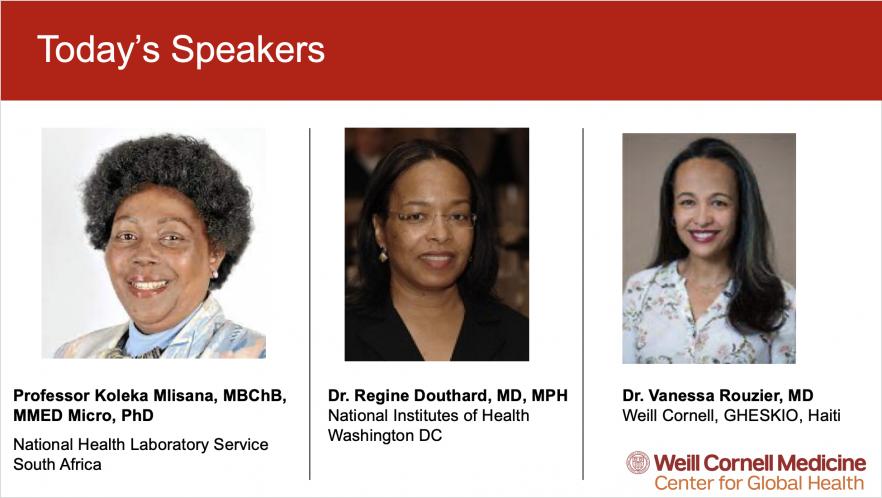 2021 Women in Global Health Virtual Conference Speakers